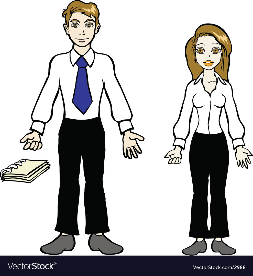 Business couple vector | Price: 3 Credit (USD $3)