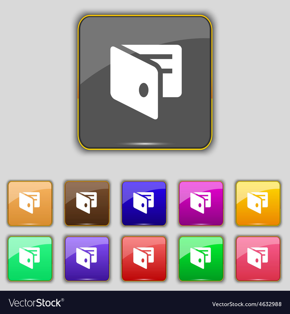 Ewallet electronic wallet business card holder vector | Price: 1 Credit (USD $1)