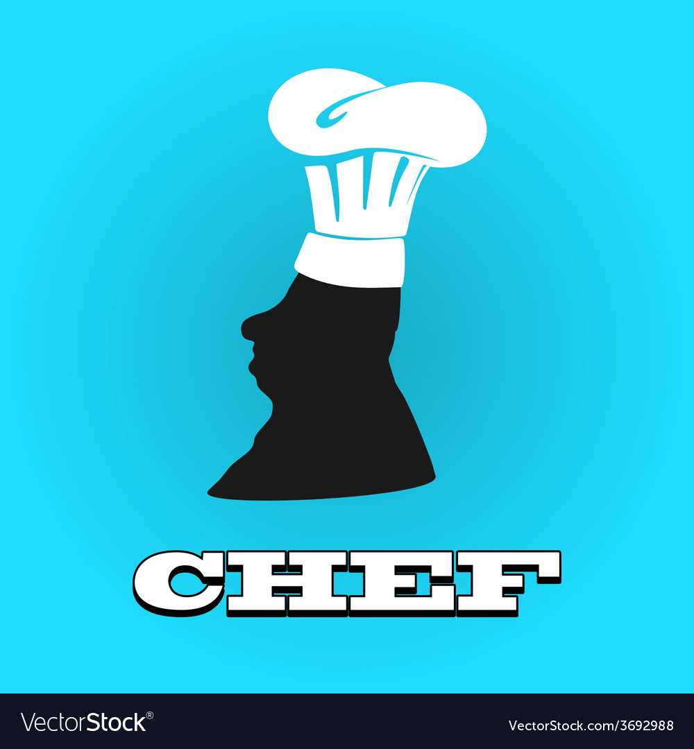Flat silhouette chef hat icon vector | Price: 1 Credit (USD $1)