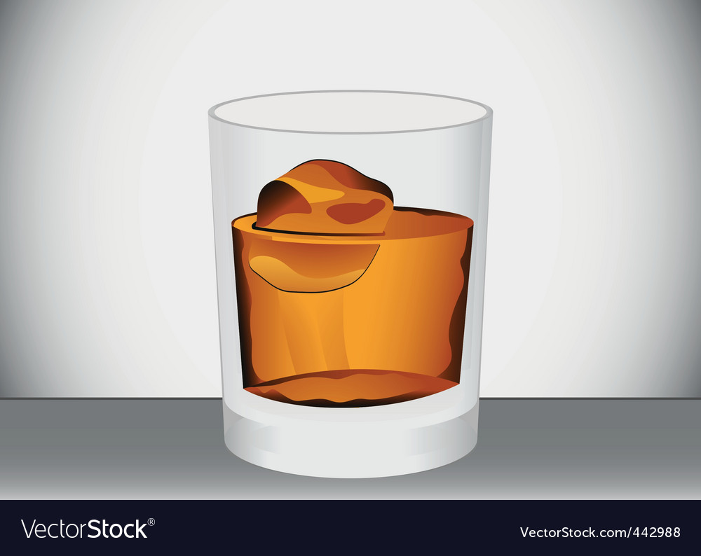 Glass of whiskey vector | Price: 1 Credit (USD $1)