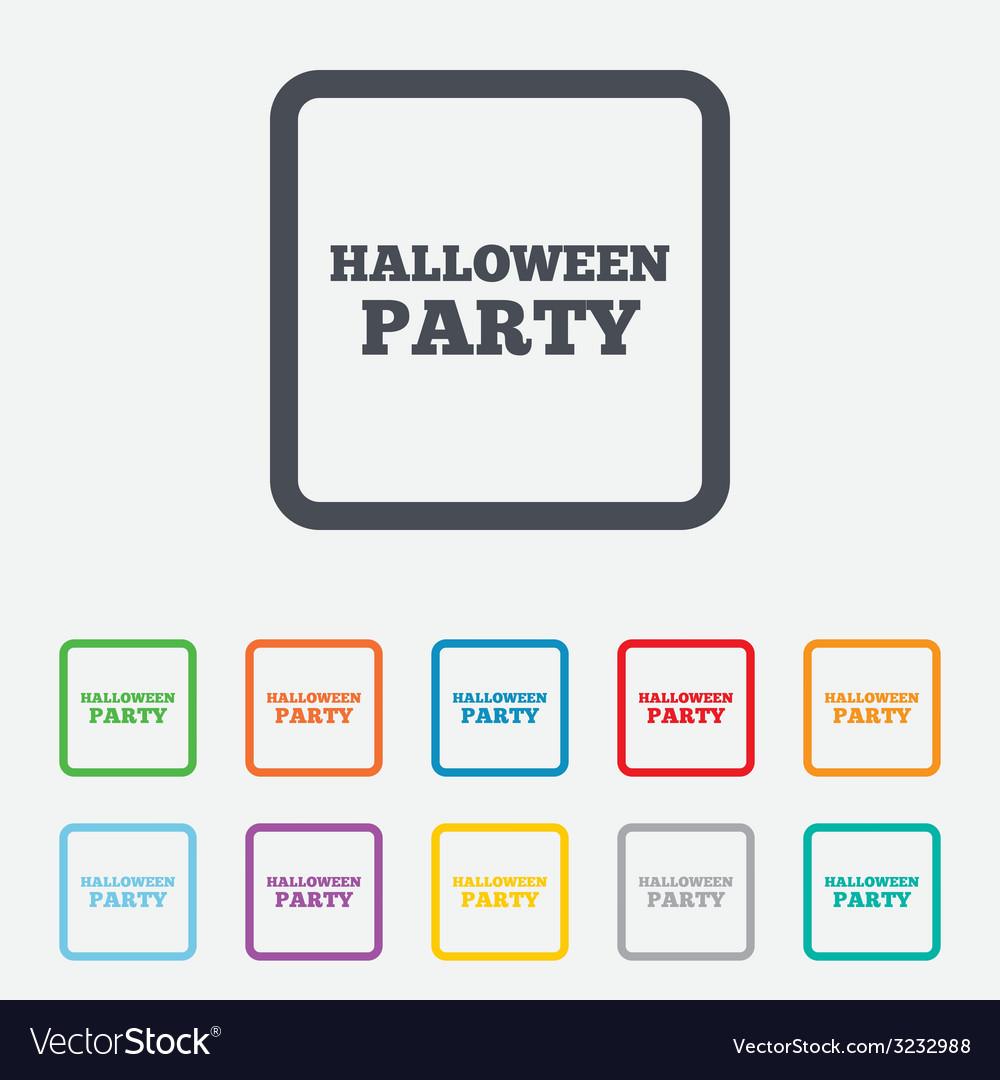 Halloween pumpkin sign icon halloween party vector | Price: 1 Credit (USD $1)