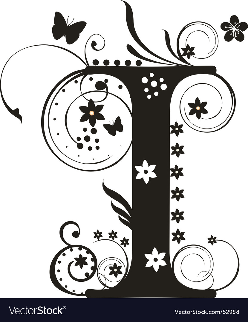 Letter i vector | Price: 1 Credit (USD $1)