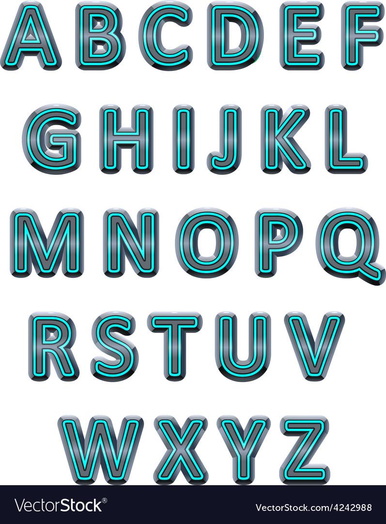 Metallic alphabet vector | Price: 1 Credit (USD $1)