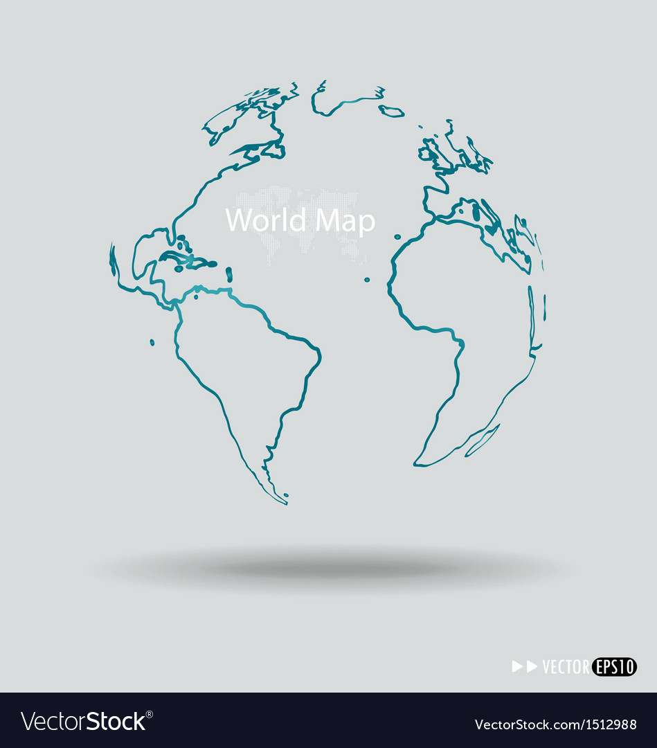 Modern globe drawing concept vector | Price: 1 Credit (USD $1)