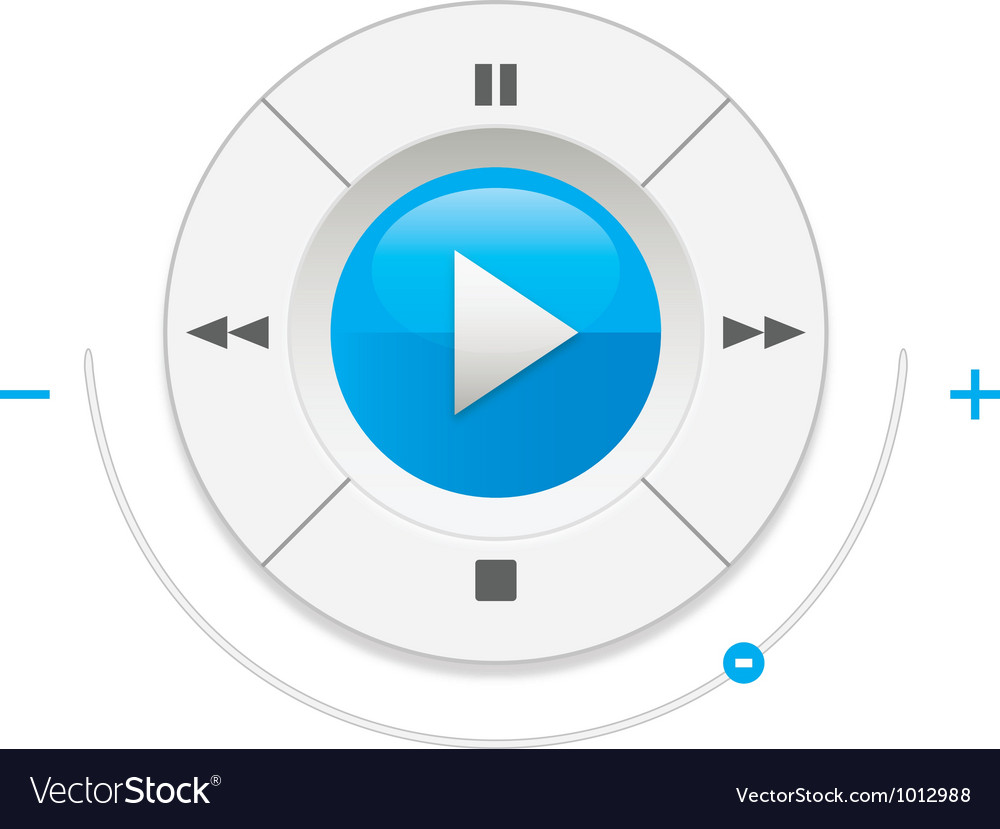 Music player control interface vector | Price: 1 Credit (USD $1)