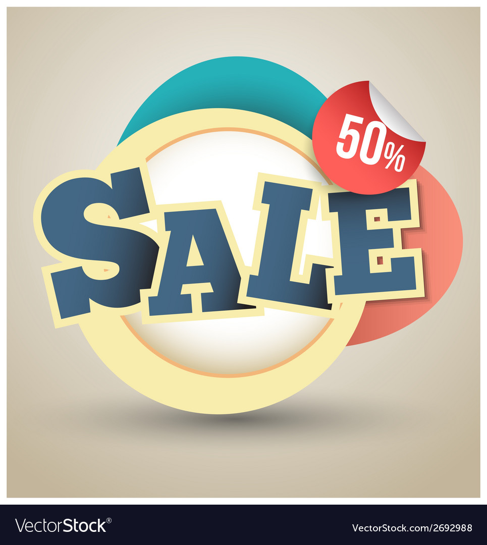 Sale tag banner vector | Price: 1 Credit (USD $1)