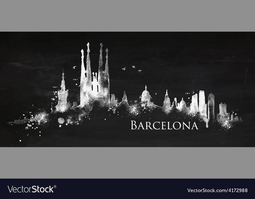 Silhouette chalk barcelona vector | Price: 3 Credit (USD $3)
