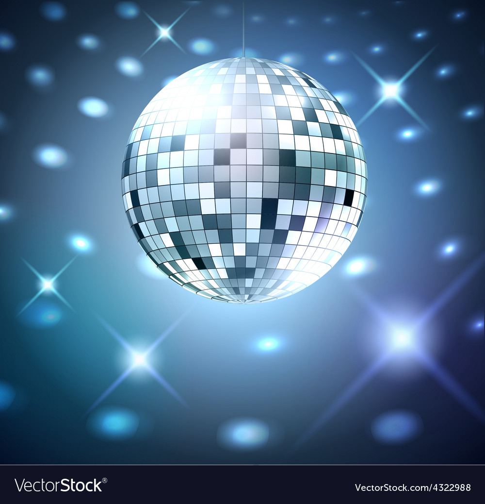 Silver disco bal vector | Price: 1 Credit (USD $1)