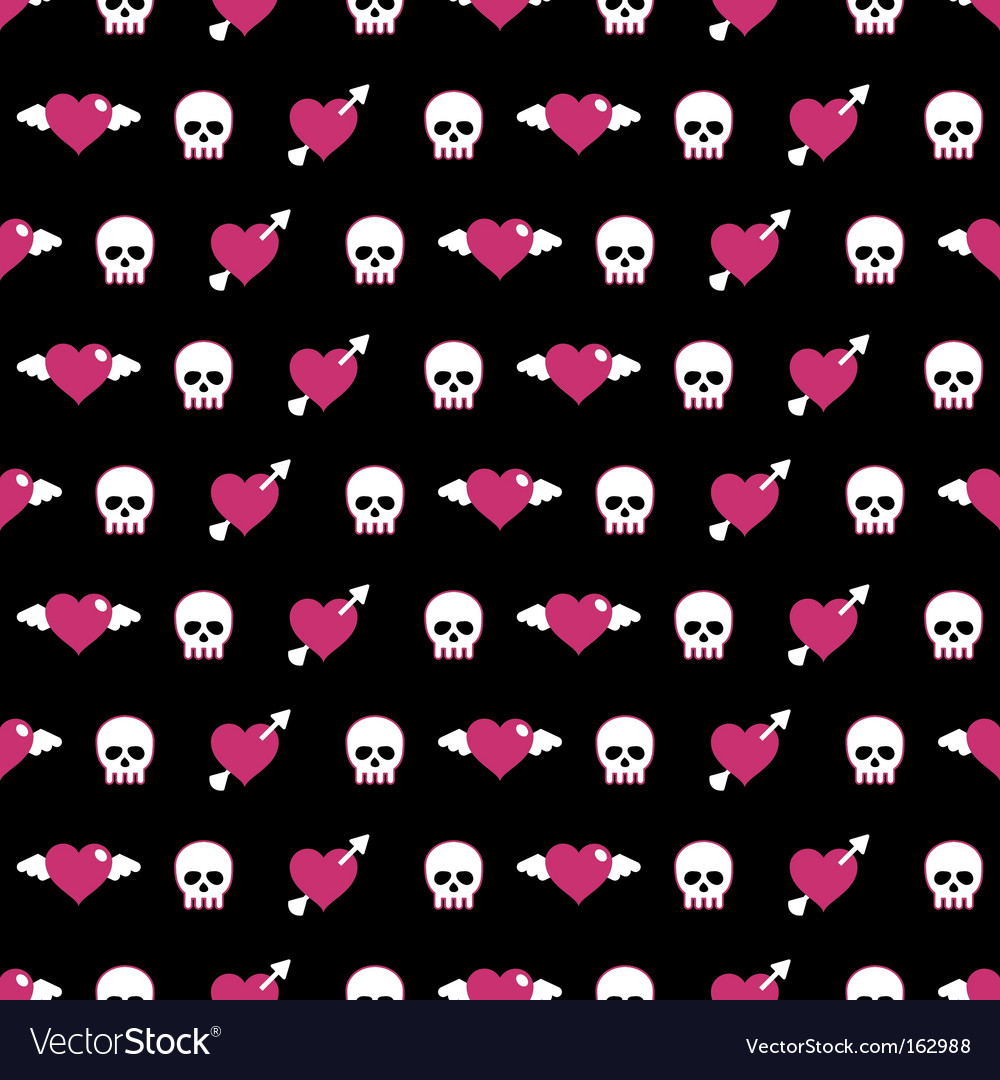 Skulls and hearts vector | Price: 1 Credit (USD $1)