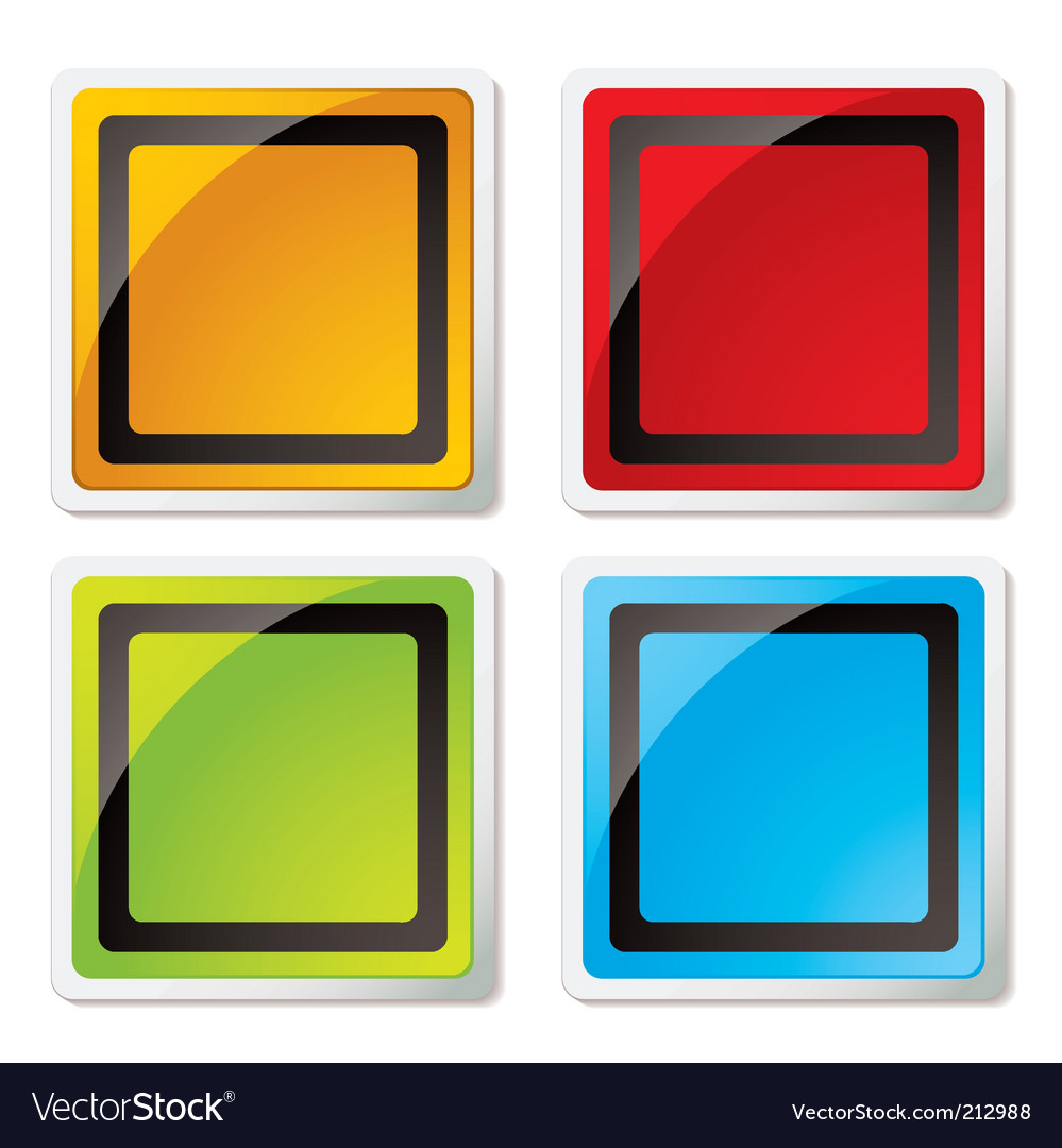 Square icons vector | Price: 1 Credit (USD $1)
