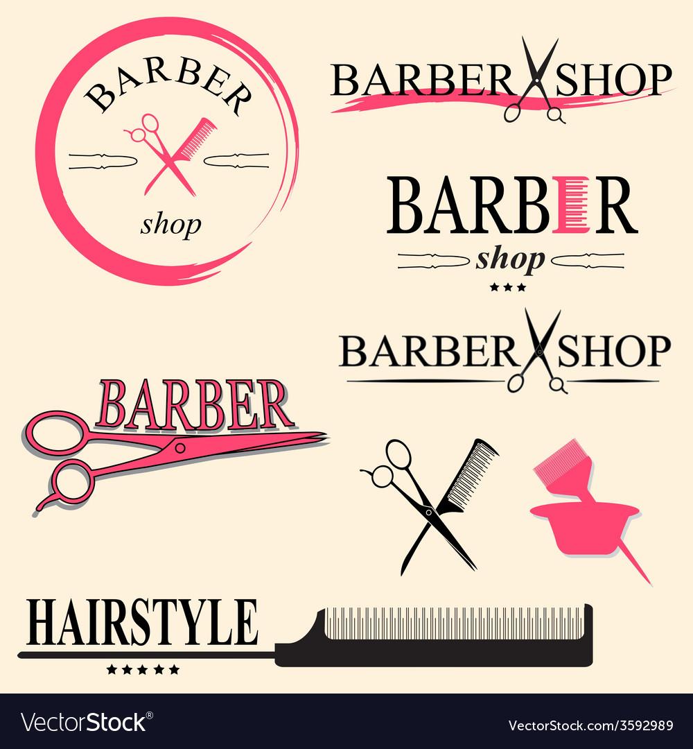 Barber logo vector | Price: 1 Credit (USD $1)