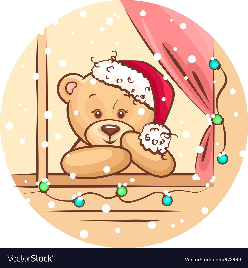 Christmas teddy vector | Price: 1 Credit (USD $1)