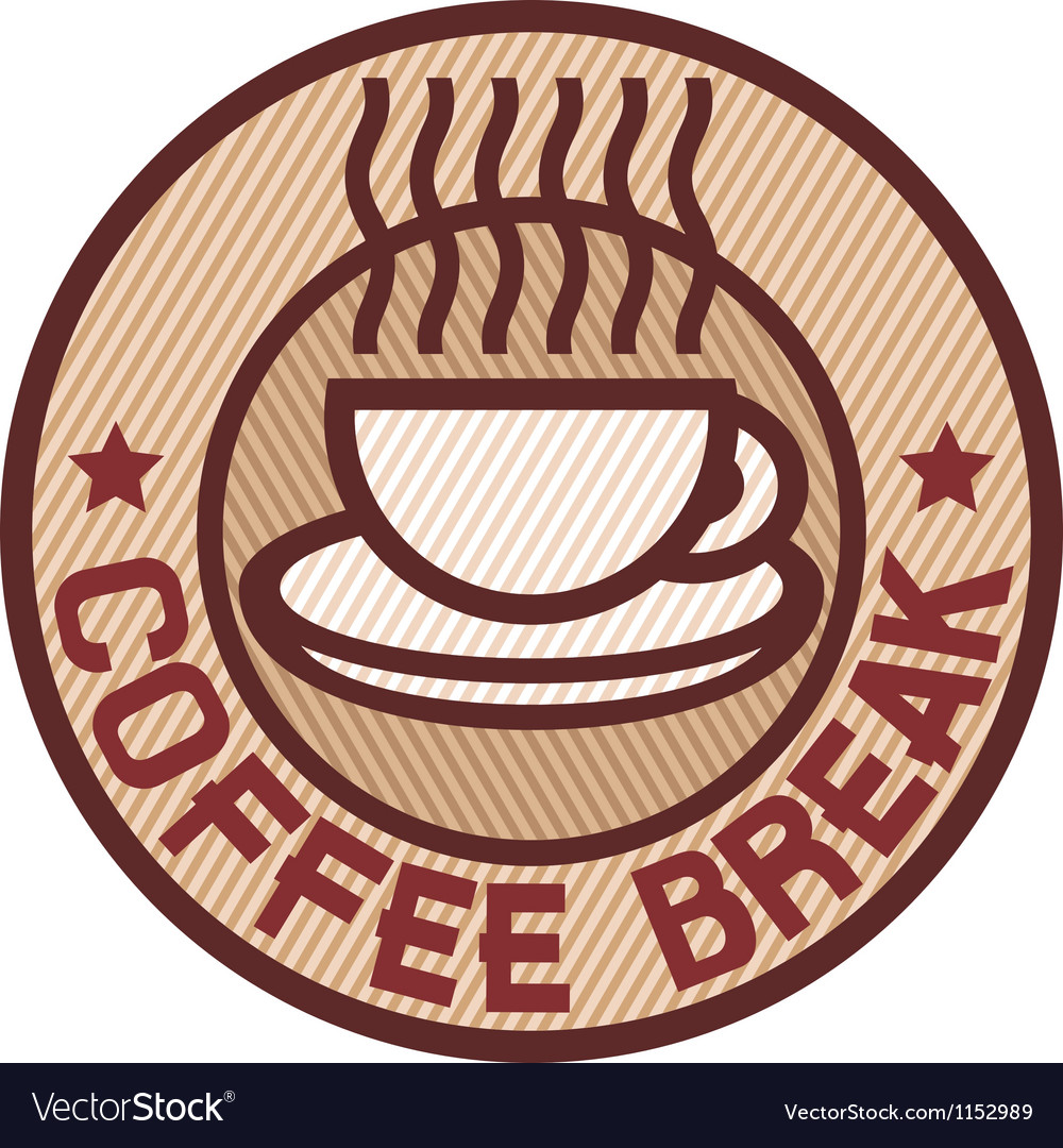 Coffee break label vector | Price: 1 Credit (USD $1)