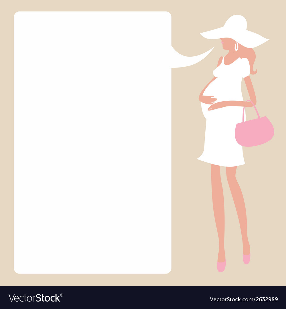 Design with young fashionable pregnant woman vector | Price: 1 Credit (USD $1)