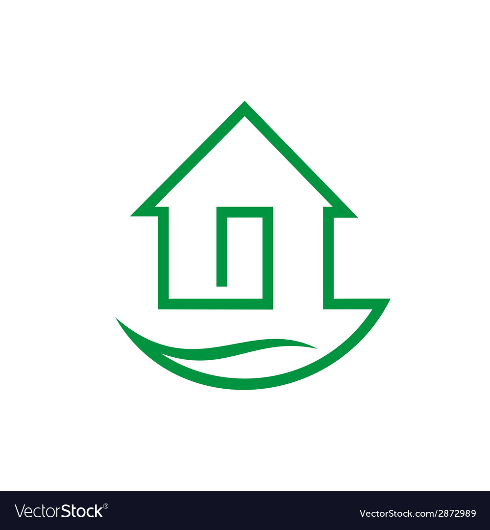 Eco home sign vector   Price: 1 Credit (USD $1)