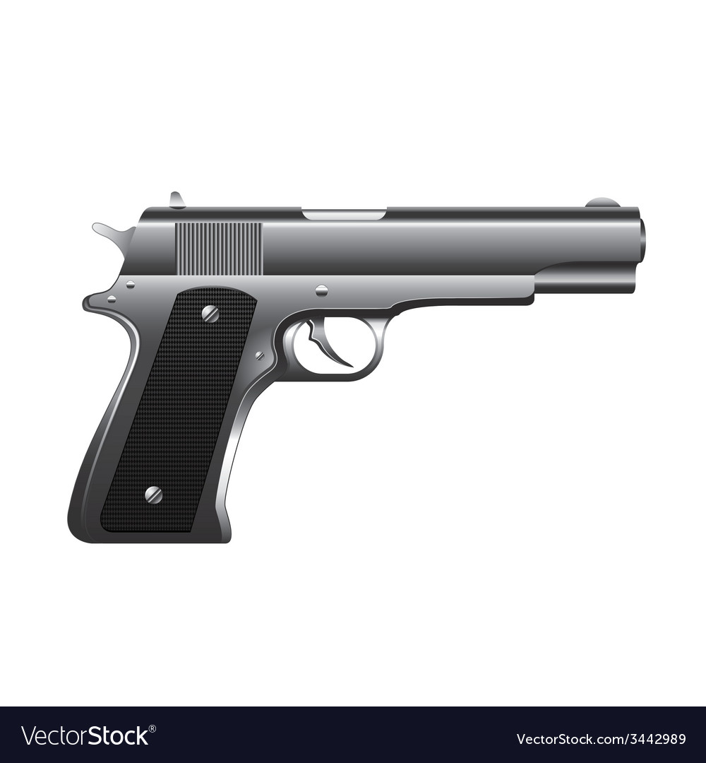 Gun isolated vector | Price: 1 Credit (USD $1)
