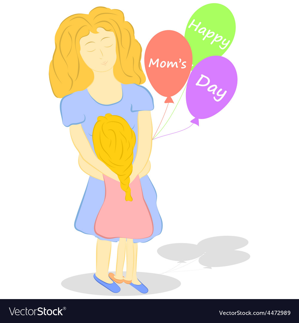 Happy moms day vector | Price: 1 Credit (USD $1)