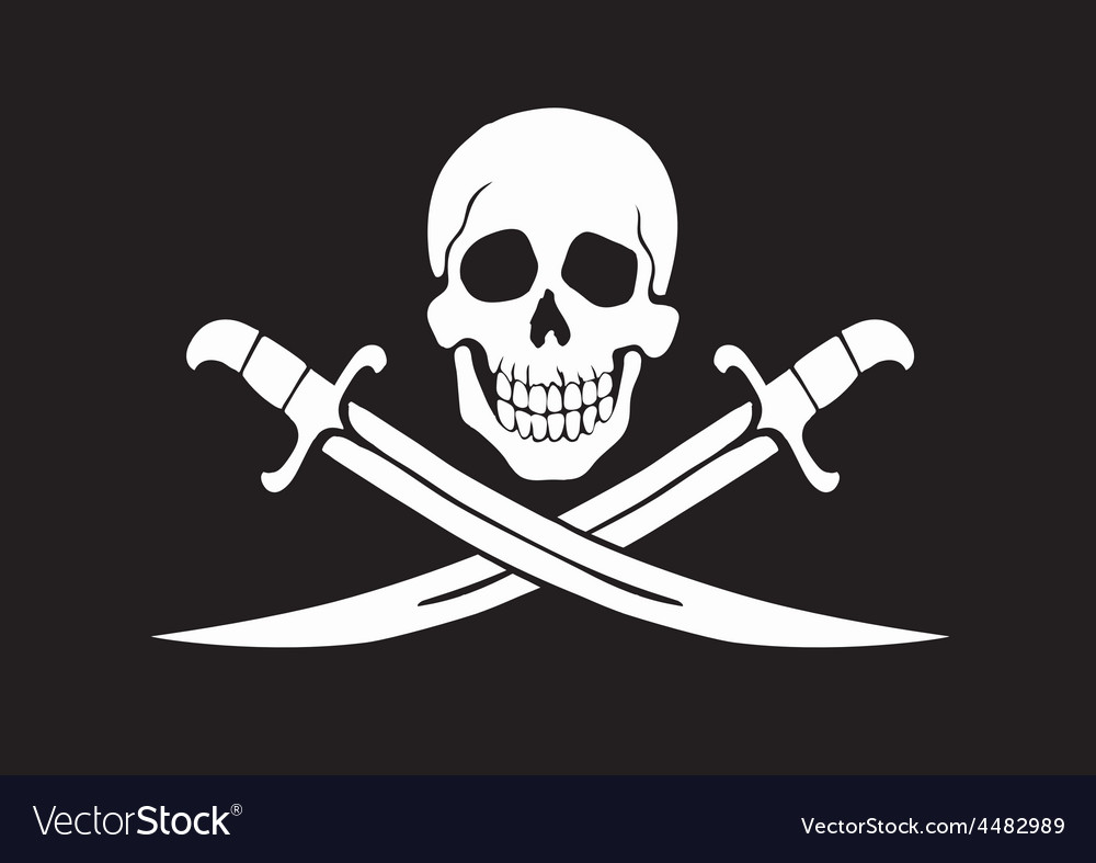 Jolly roger black vector | Price: 1 Credit (USD $1)