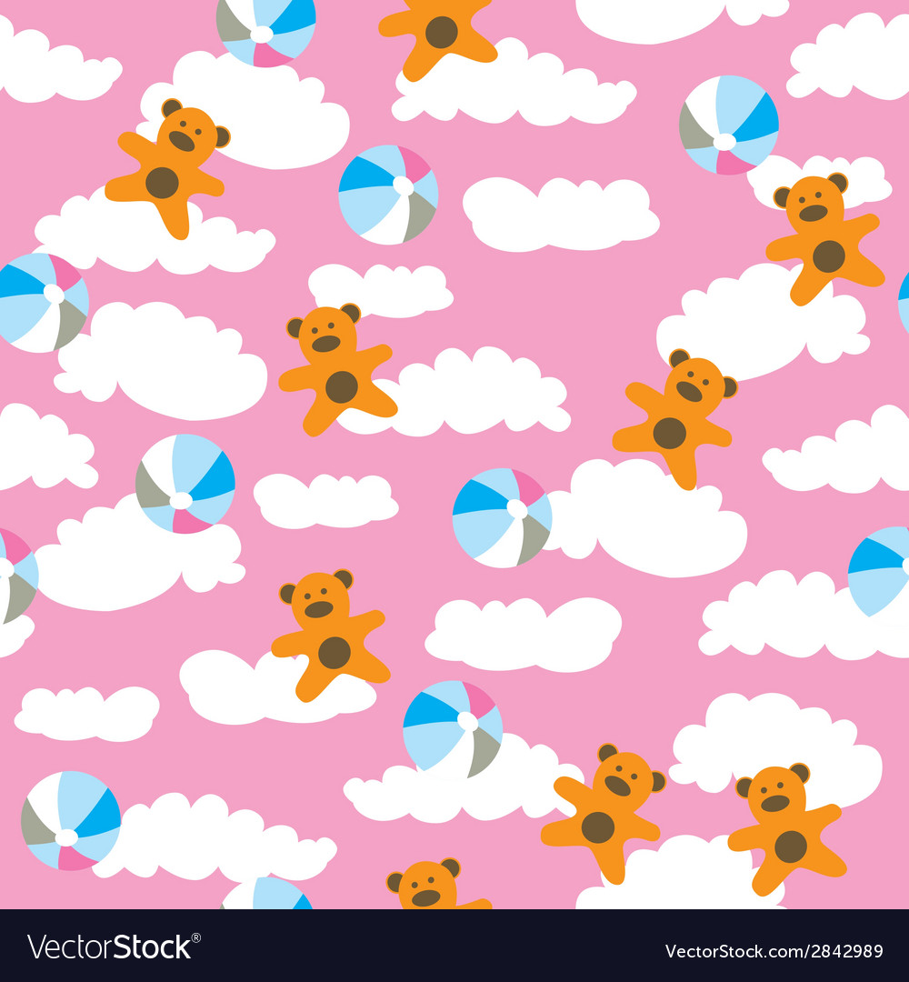 Kids pattern with cloud vector | Price: 1 Credit (USD $1)