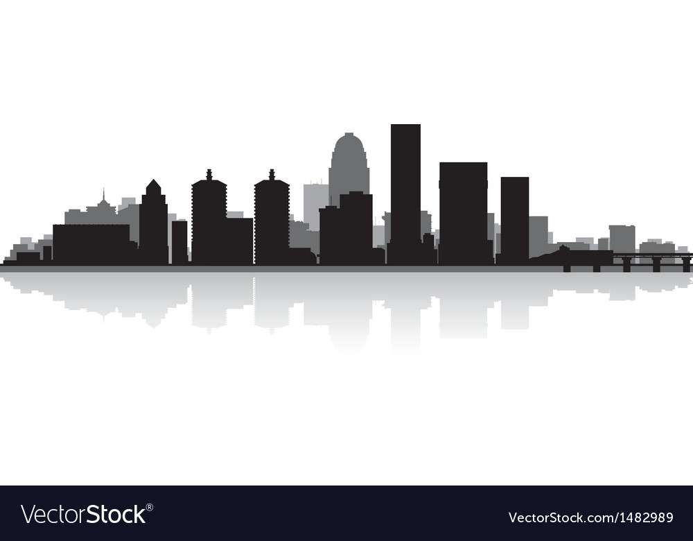 Louisville usa city skyline silhouette vector | Price: 1 Credit (USD $1)