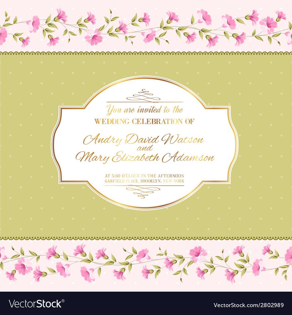 Luxurious invitation card vector | Price: 1 Credit (USD $1)