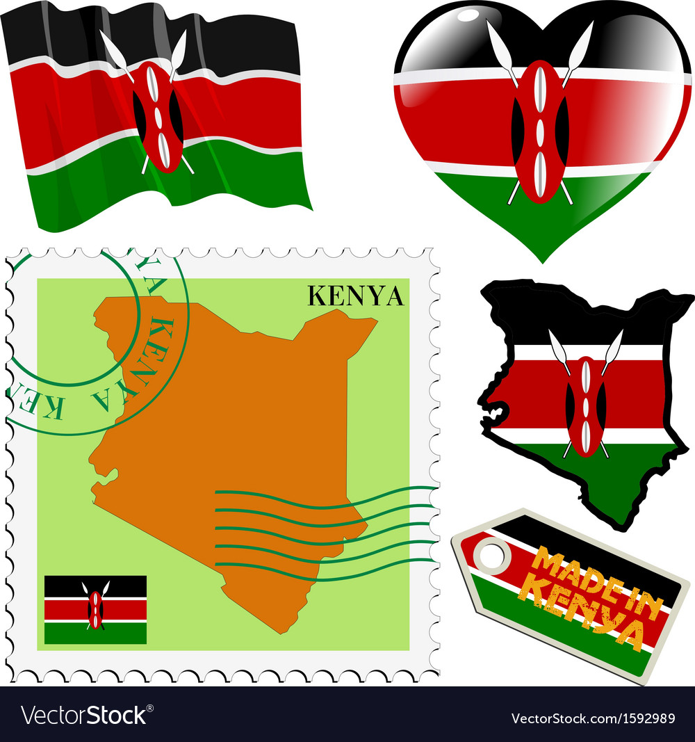 National colours of kenya vector | Price: 1 Credit (USD $1)