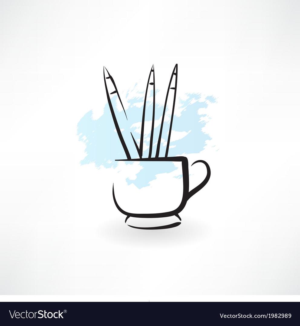 Pencils grunge icon vector | Price: 1 Credit (USD $1)