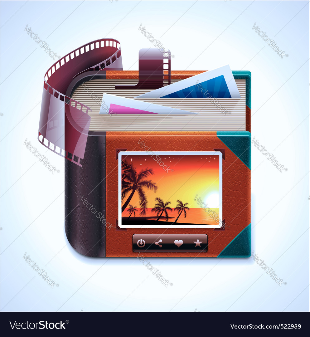 photo album xxl icon vector | Price: 3 Credit (USD $3)