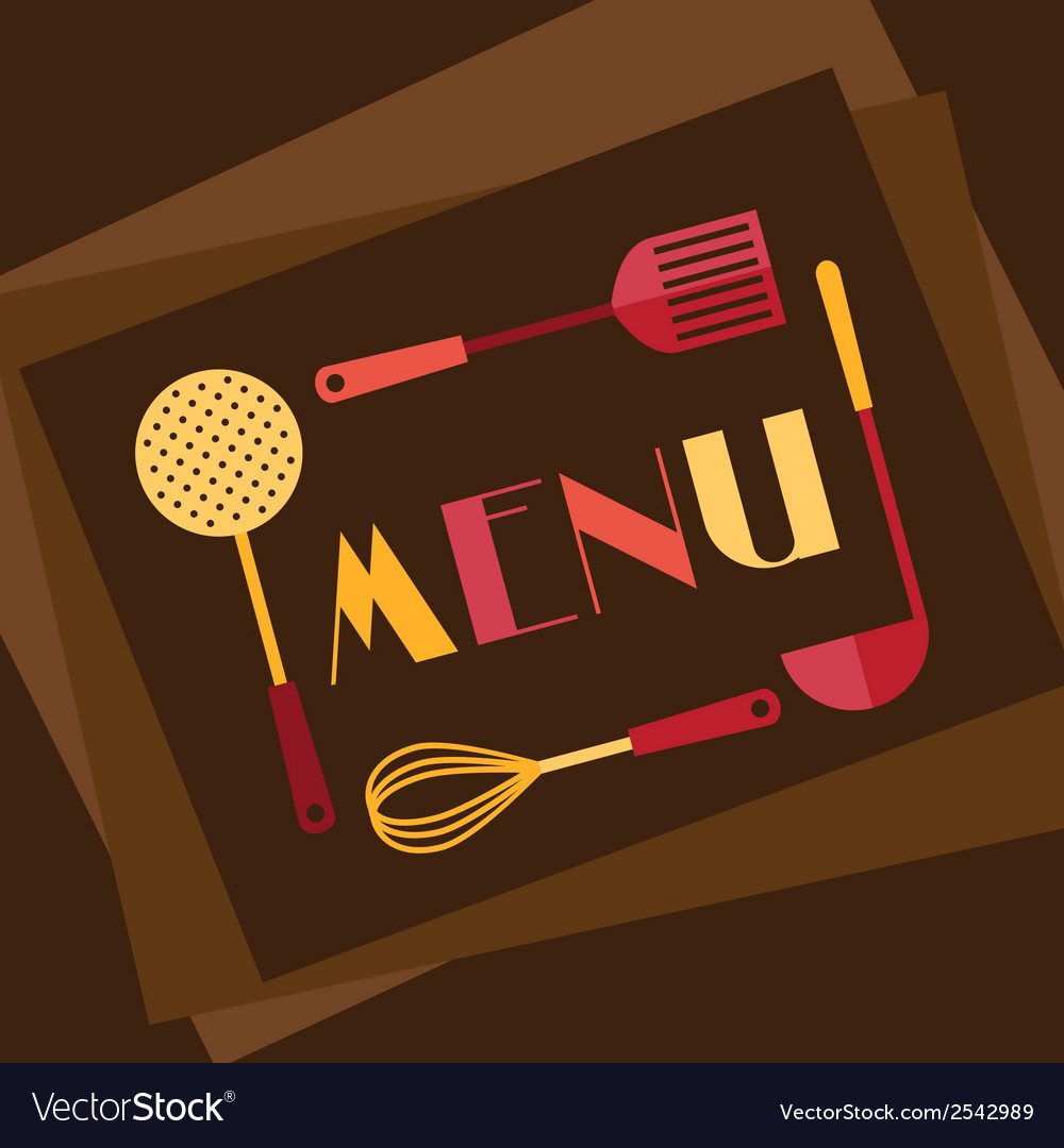 Restaurant menu background in flat design style vector | Price: 1 Credit (USD $1)