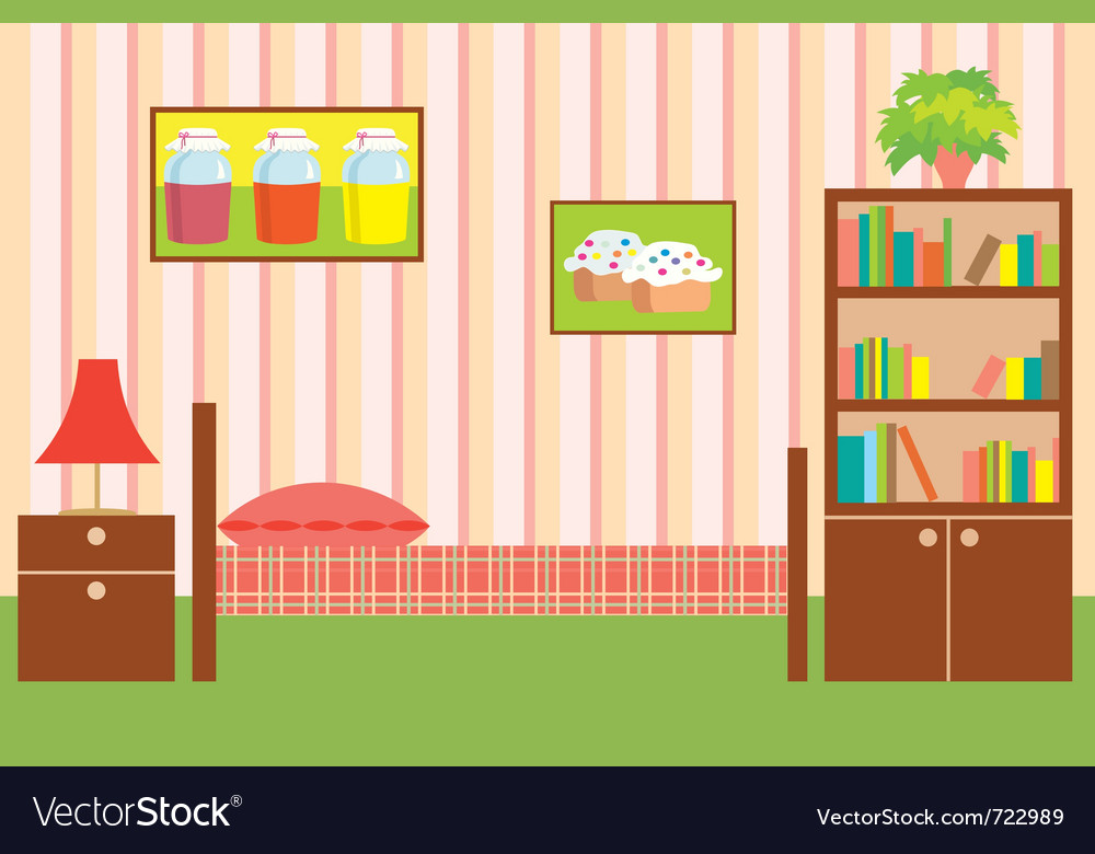 Room of the girl vector | Price: 1 Credit (USD $1)