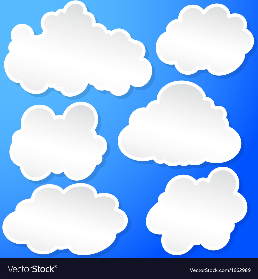 Set of clouds in the sky vector | Price: 1 Credit (USD $1)