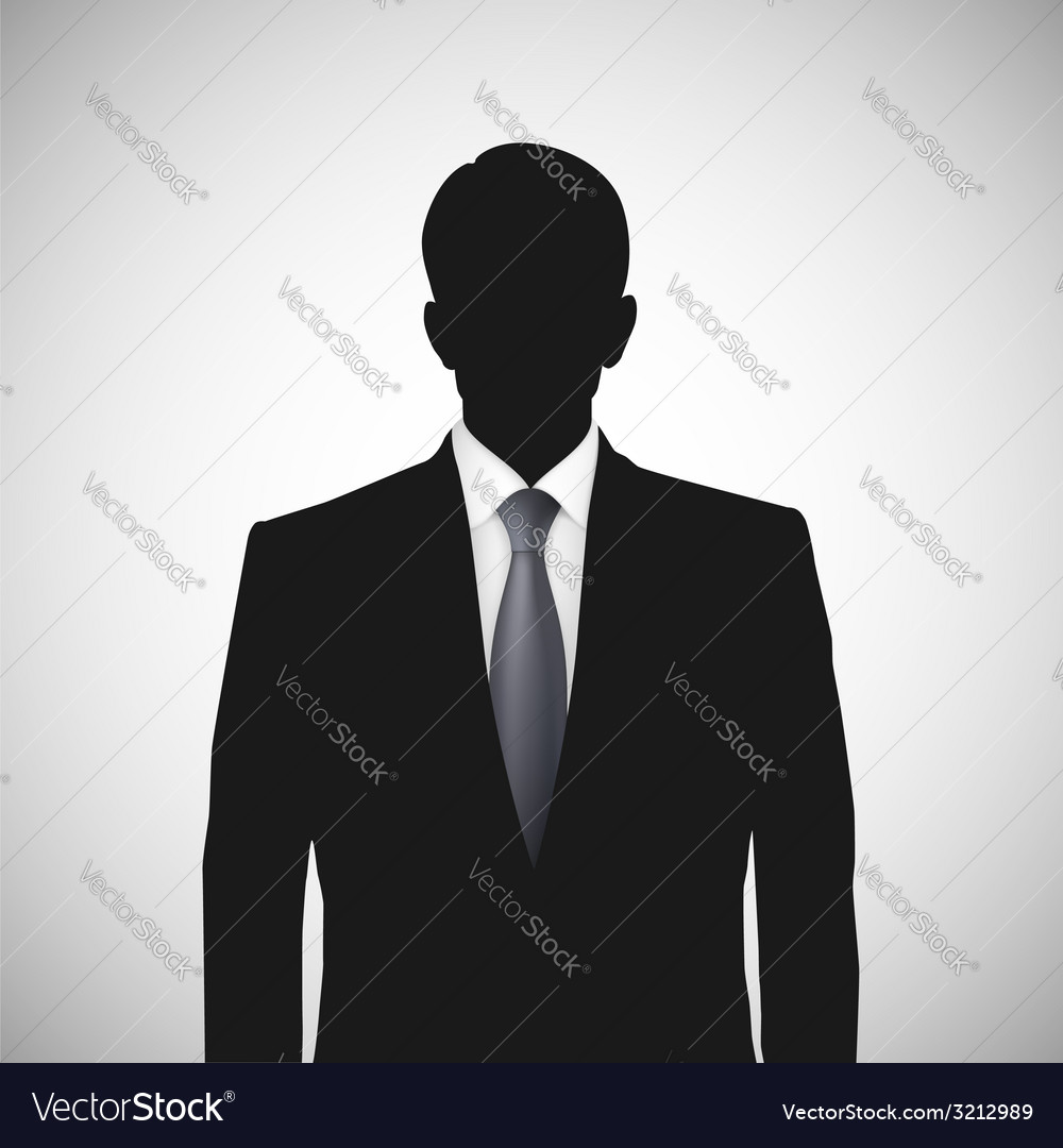 Unknown person silhouette whith tie vector   Price: 1 Credit (USD $1)
