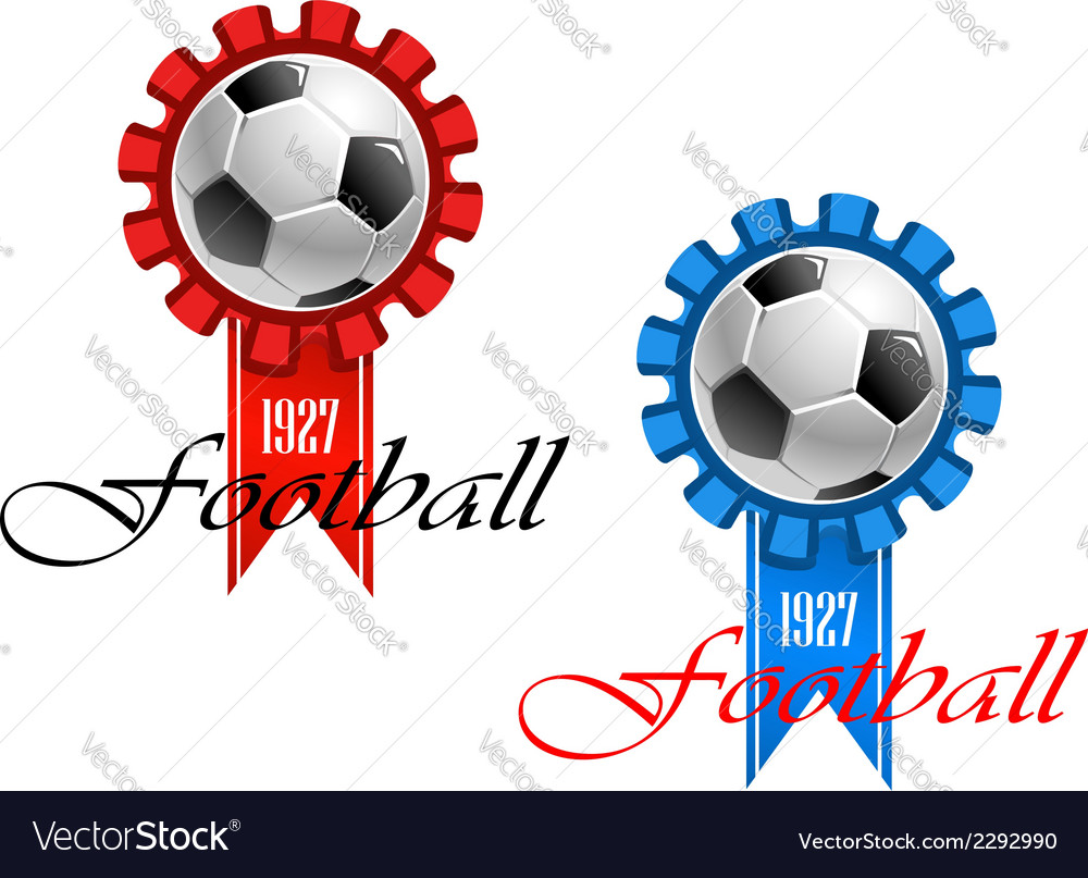 Blue and red crests of football vector | Price: 1 Credit (USD $1)