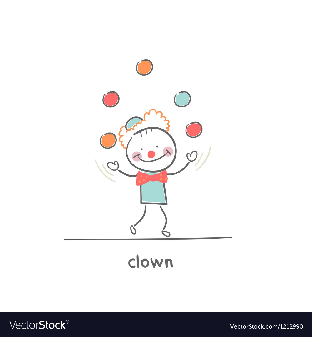 Clown juggling vector | Price: 1 Credit (USD $1)