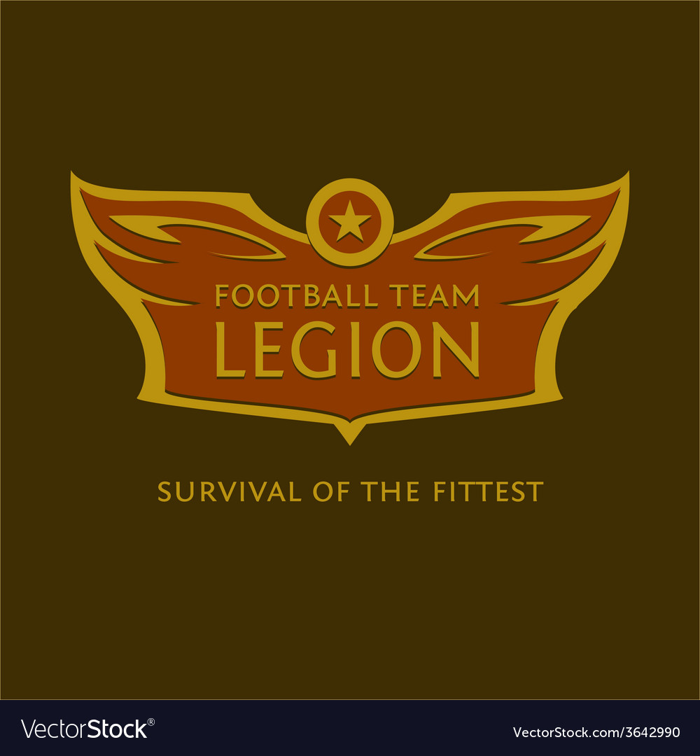 Emblem for the football team heraldic logo with vector | Price: 1 Credit (USD $1)