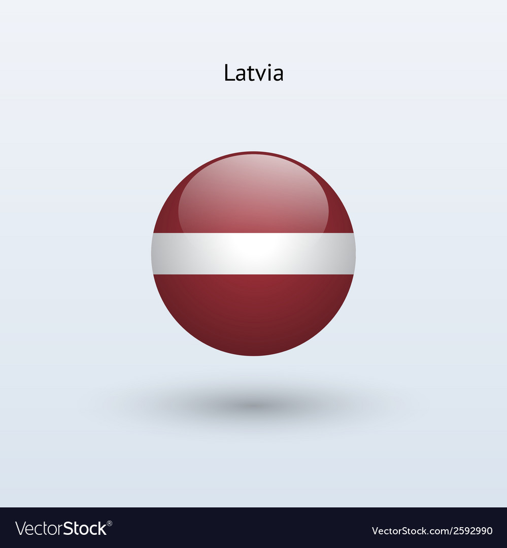Latvia round flag vector | Price: 1 Credit (USD $1)