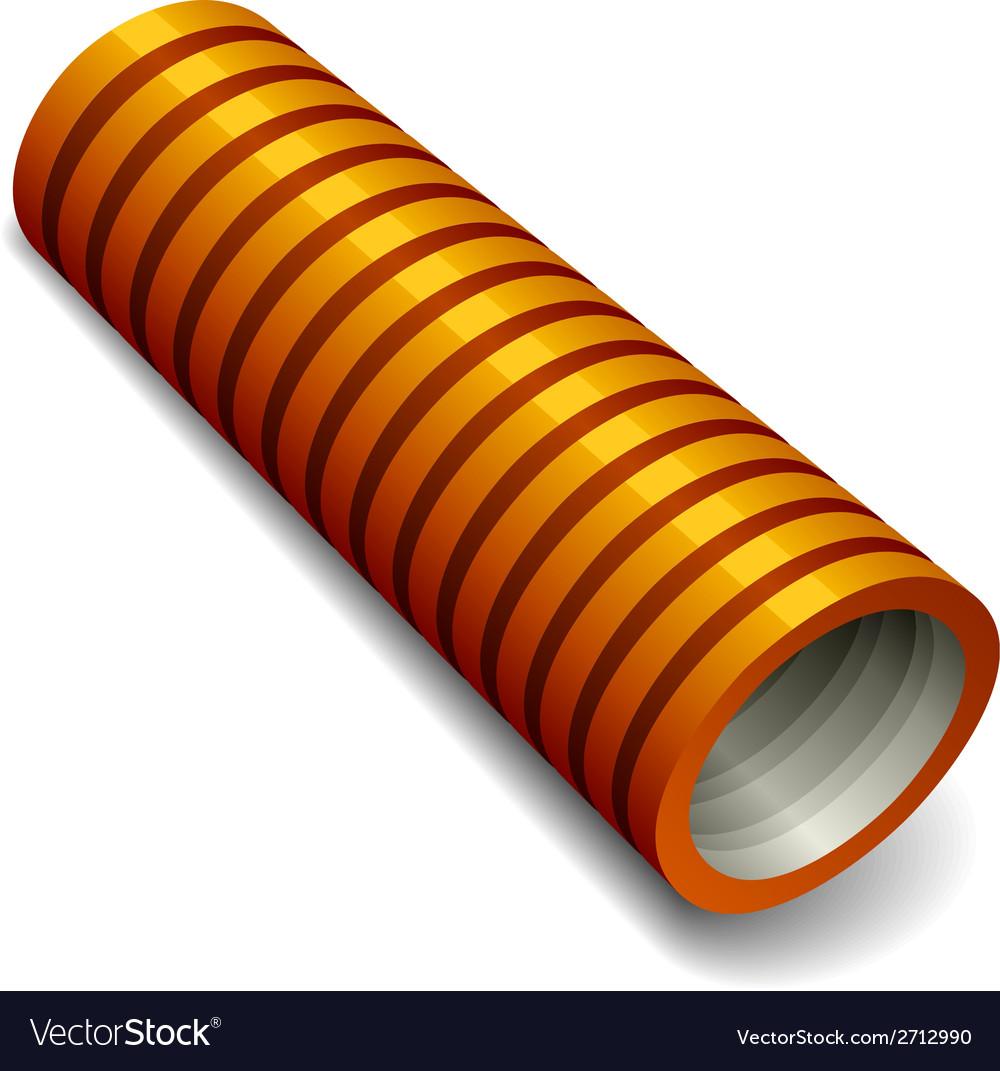 Orange plumbing corrugated tube vector | Price: 1 Credit (USD $1)