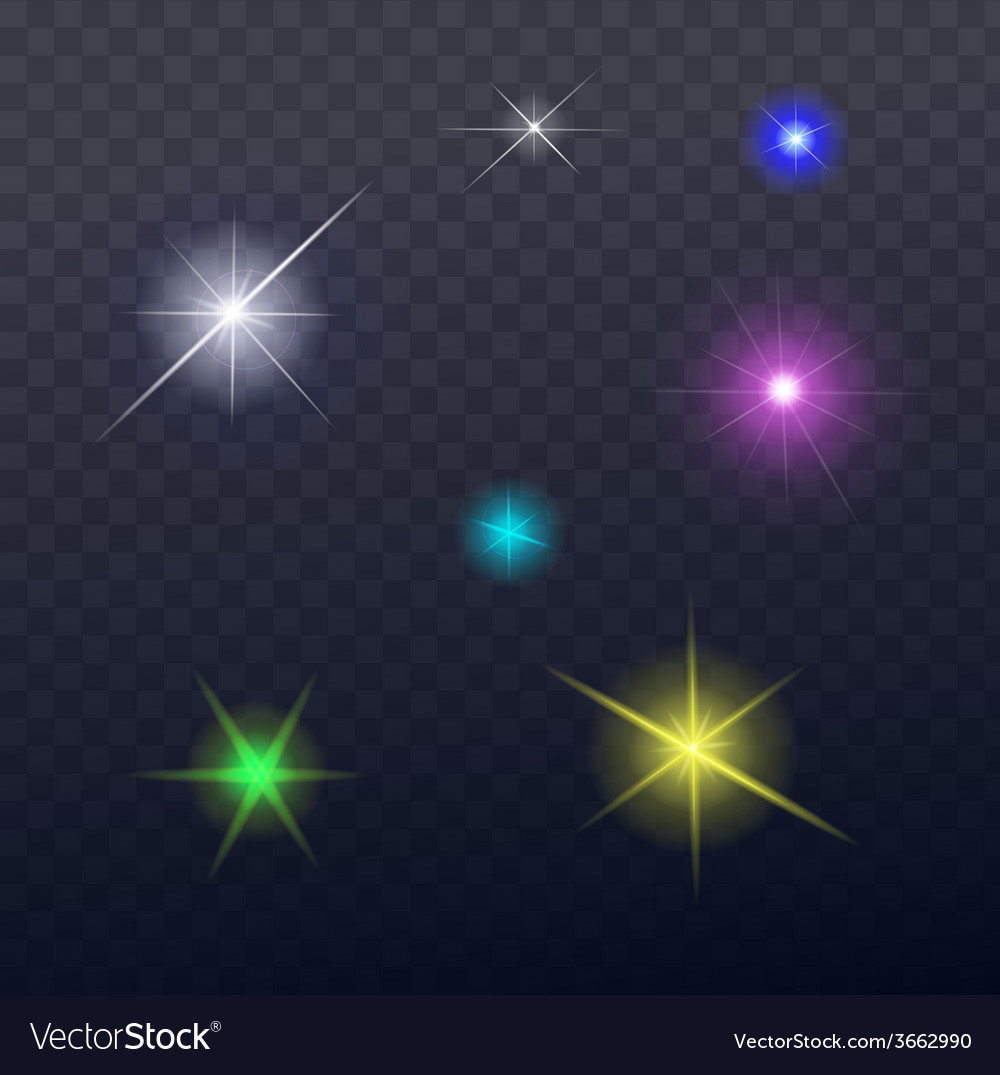Stars and sparkles - collection of design elements vector | Price: 1 Credit (USD $1)