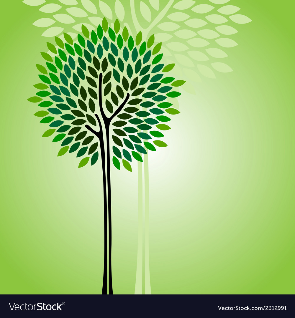 Card with stylized tree vector   Price: 1 Credit (USD $1)