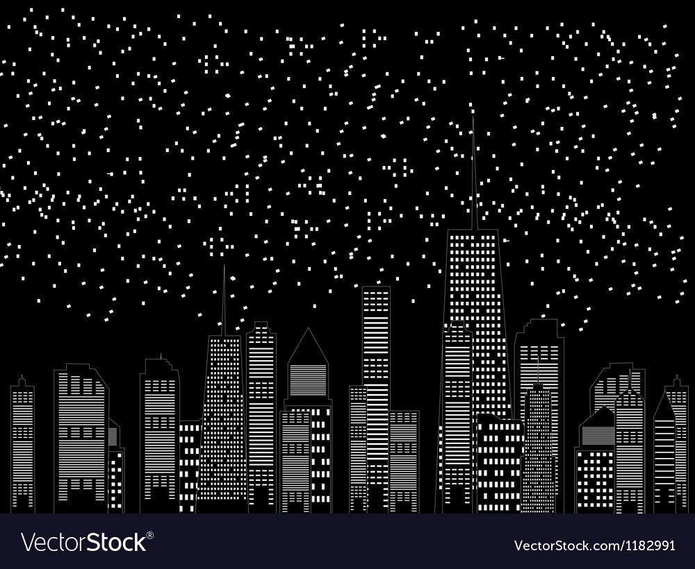 Cities silhouette vector | Price: 1 Credit (USD $1)
