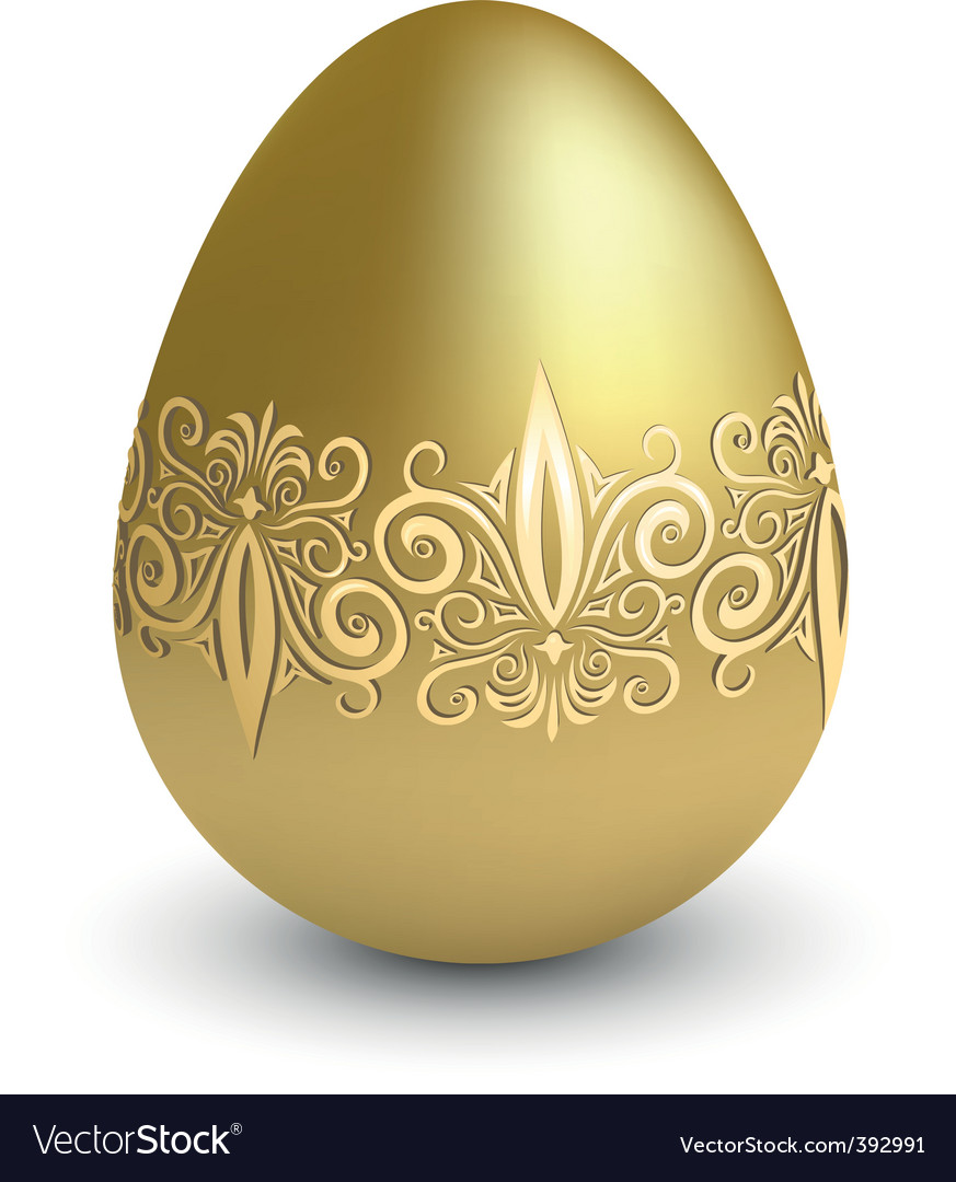Easter gold egg vector | Price: 1 Credit (USD $1)