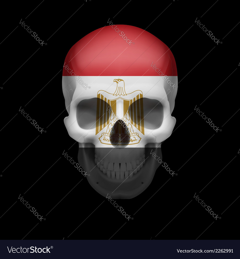 Egyptian flag skull vector | Price: 1 Credit (USD $1)