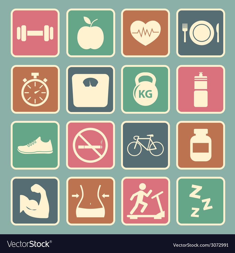 Health and fitness icon vector | Price: 1 Credit (USD $1)