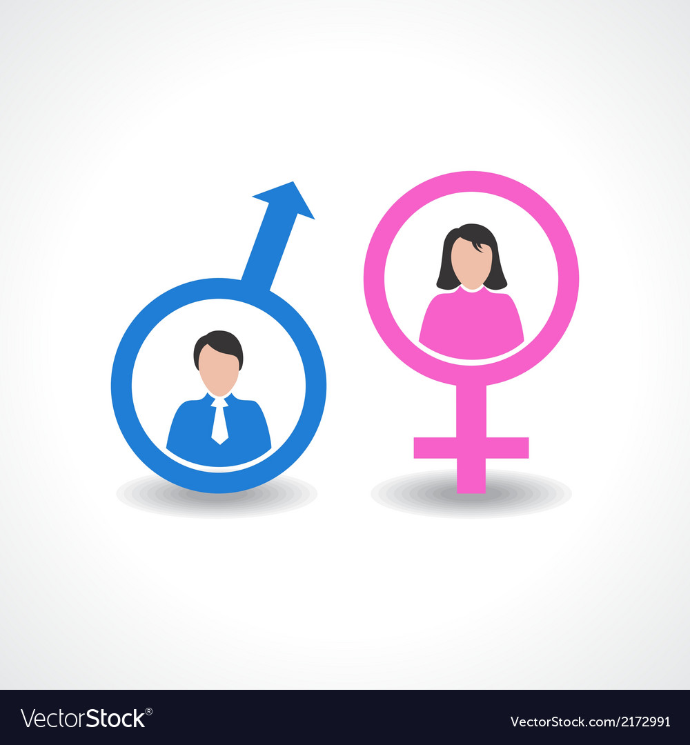 Male and female icon design vector | Price: 1 Credit (USD $1)