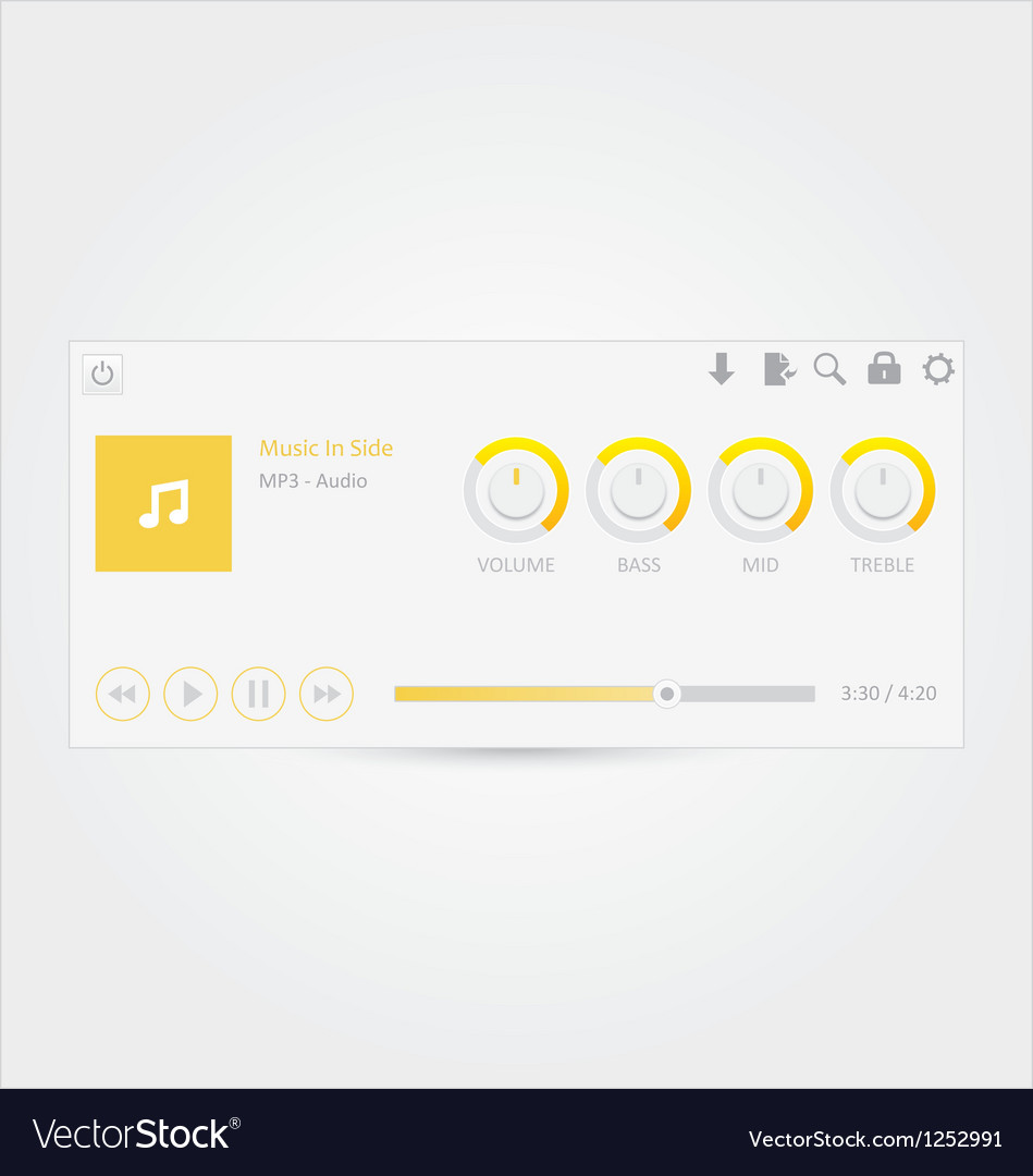 Music player 6 vector | Price: 1 Credit (USD $1)