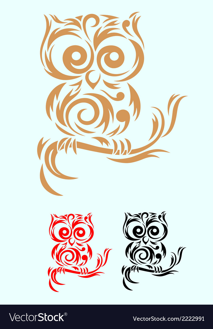 Owl ornate vector | Price: 1 Credit (USD $1)