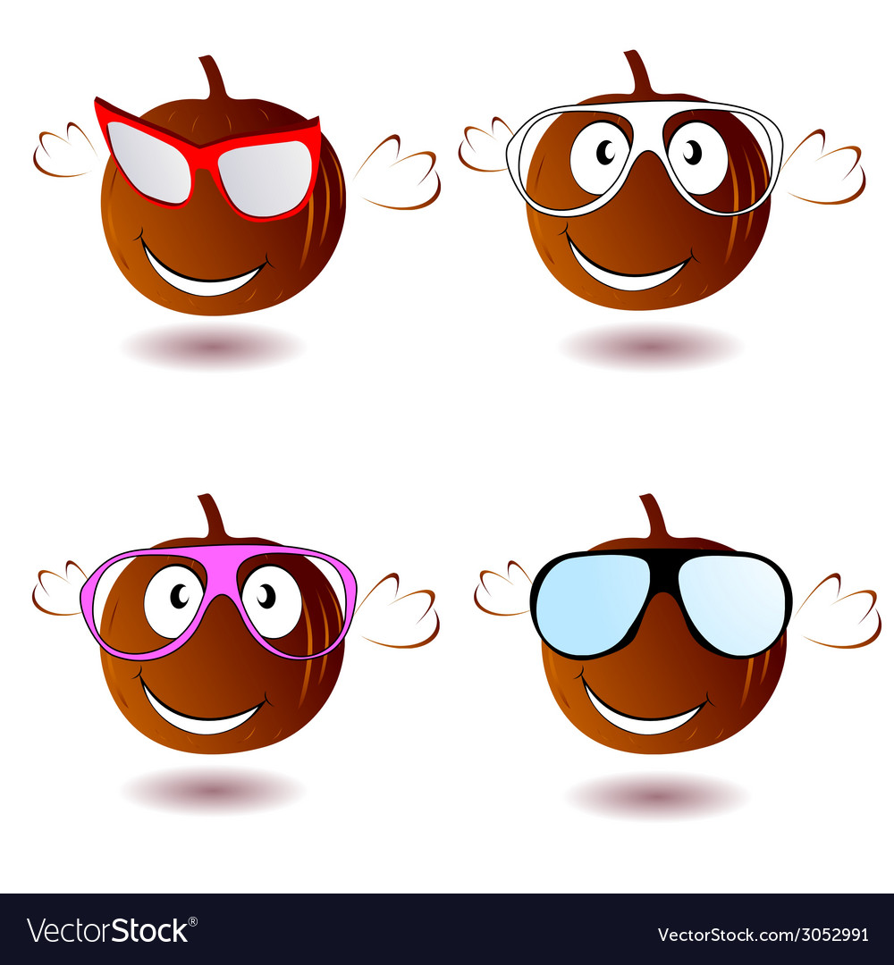 Pumpkin with glasses vector | Price: 1 Credit (USD $1)