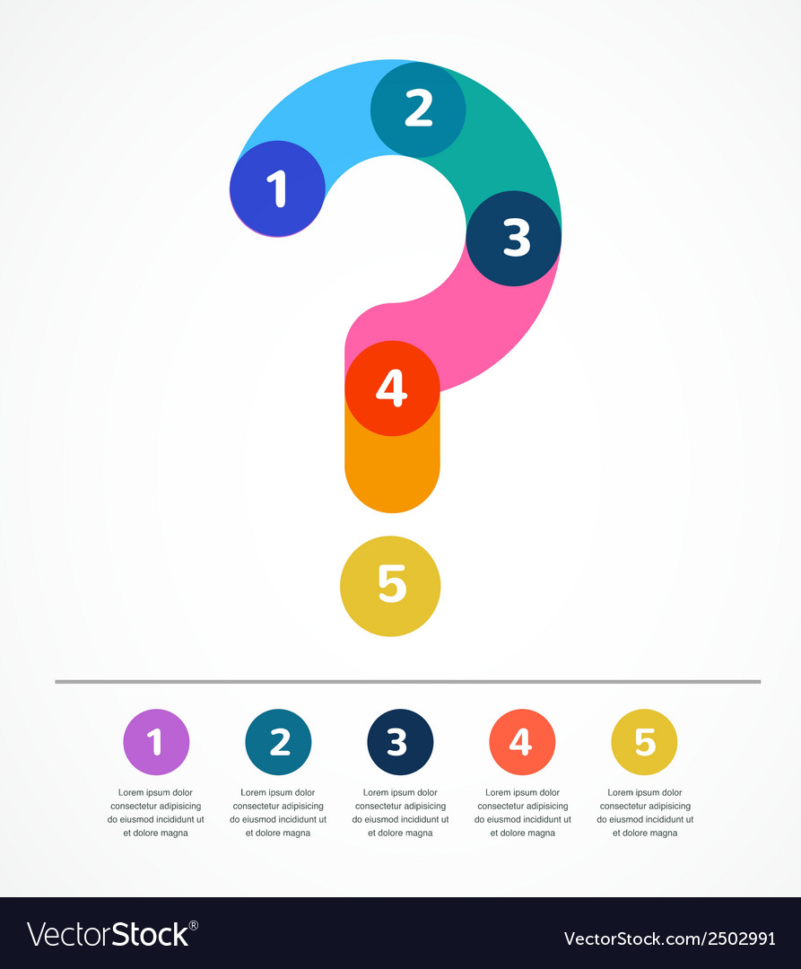 Question mark abstract background infographic vector | Price: 1 Credit (USD $1)