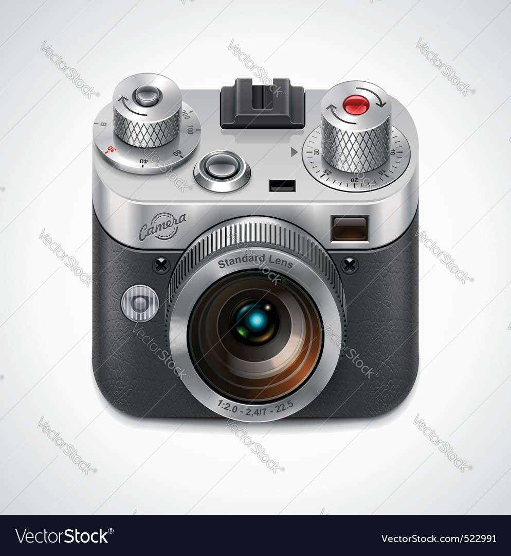 retro camera xxl icon vector | Price: 3 Credit (USD $3)