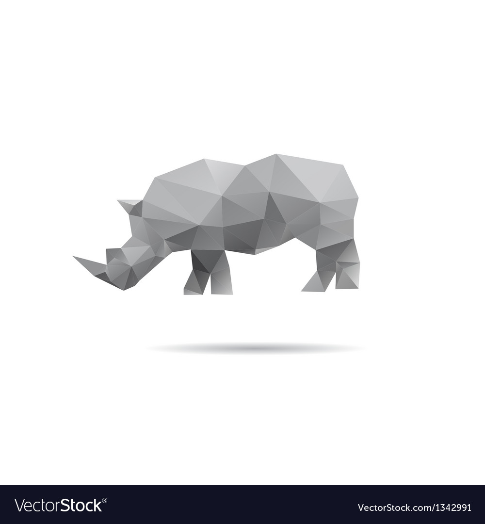 Rhino isolated on a white backgrounds vector | Price: 1 Credit (USD $1)